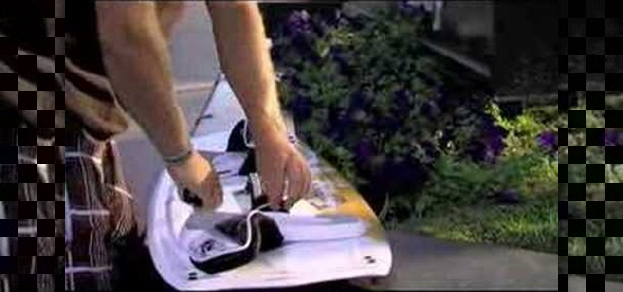 How to Install the strap on a kitesurfing board ...