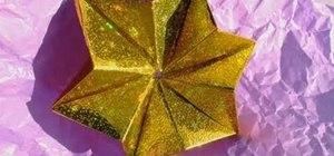 Fold a modular origami star