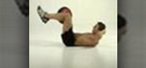 Tone abs with a figure-of-eight crunch exercise