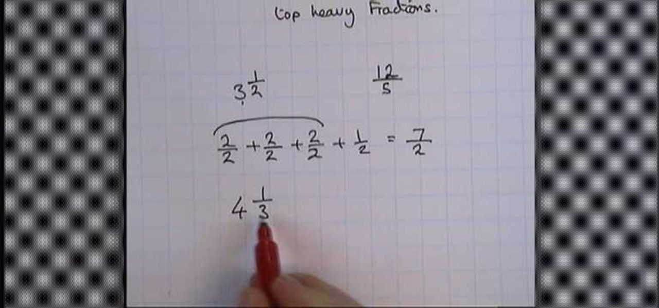 How to Convert top heavy fractions to mixed numbers « Math ...