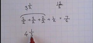Convert mixed numbers into top heavy fractions
