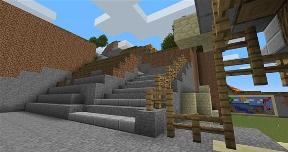 Minecraft Castle Staircase : Minecraft the little things can be amazing too « load