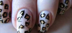 Create a leopard print nail decoration