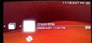 Load ChickHen R2 onto your PSP