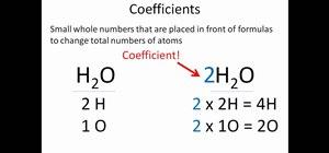 Properly balance chemical equations