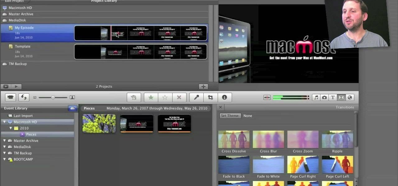 How to Create custom templates in Apple iMovie « Operating Systems ...