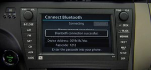 Pair a phone through Bluetooth with a 2010 Prius