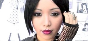 Create a Nana Osaki punk rock makeup look for Halloween