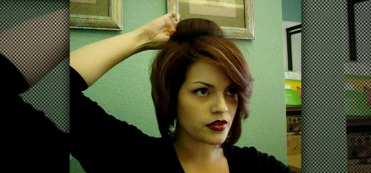 How to do a short hair updo hairstyling wonderhowto solutioingenieria Images