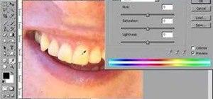 Make teeth whiter in Photoshop