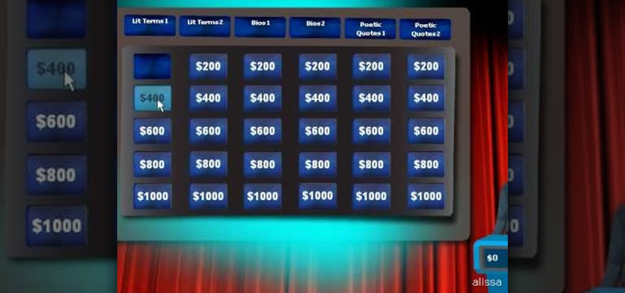 How to Create a Jeopardy game in Flex « Flash ActionScript / Flex ...