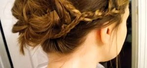 Style a quick bohemian updo like Blake Lively