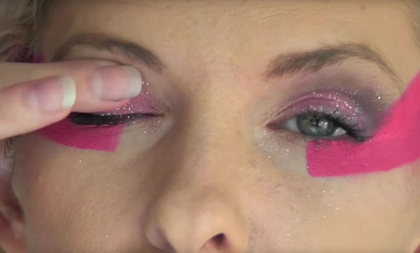 How to Do Jem's Signature Pink Makeup Look for Halloween