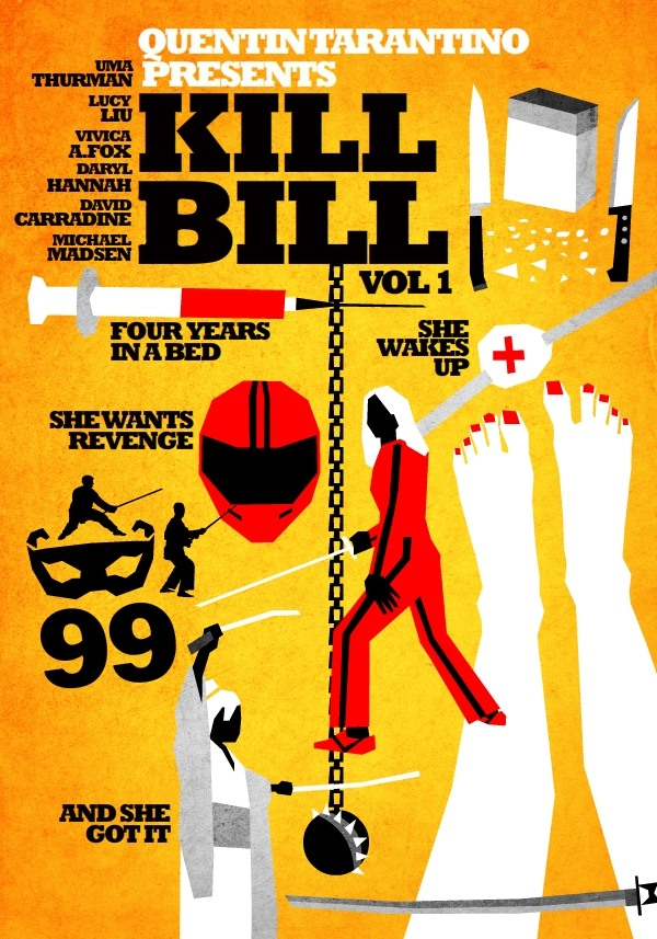 Hexagonall redesigns Tarantino movie posters
