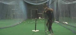 Hit line drives to the pull side with a tee drill