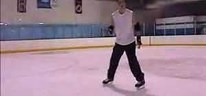 "Practice the ""Dime Stop"" while ice skating"