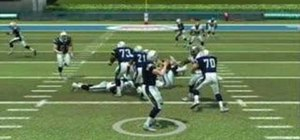 Use the quarterback vision in Madden NFL 08