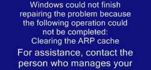 Clear the ARP cache
