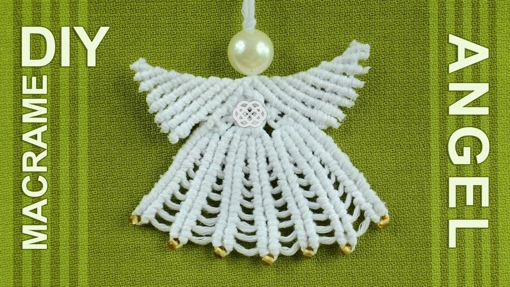 How to Make Macrame ANGEL Decoration