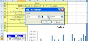 Use the filter & sort feature in Excel
