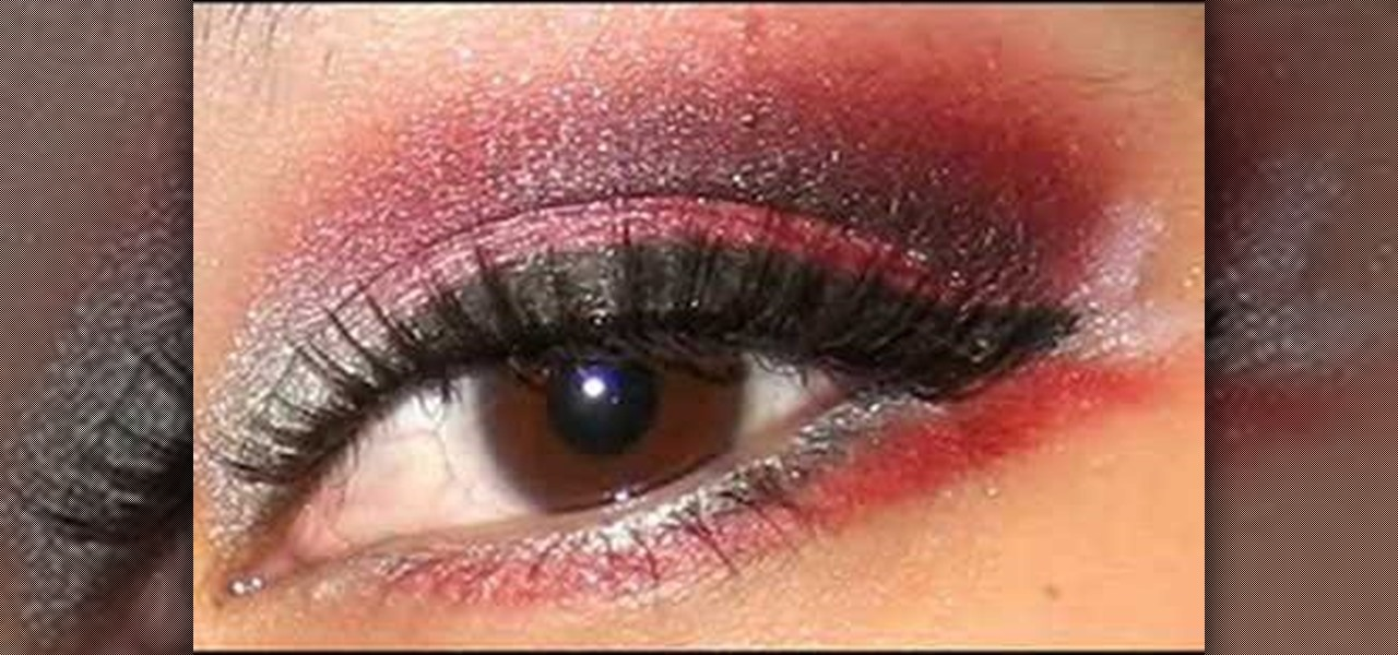 How To Apply Silver Red And Black Eye Shadow Makeup Wonderhowto