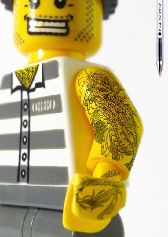 Extra-Fine Pen Allows for LEGO Tattoo Magic