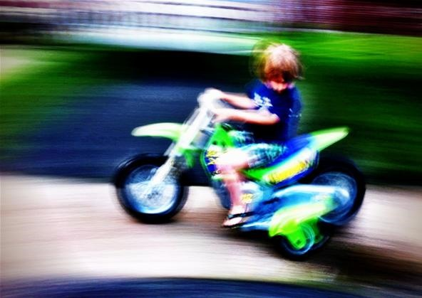 Blurred Photography Challenge: Tearing it up