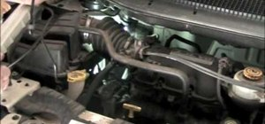 Find a leak in the evap on an '03 Dodge Caravan