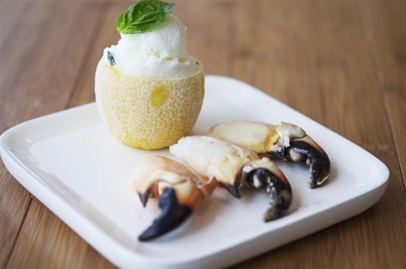 be served with lemon basil savory sherbet during the summer. The lemon ...