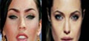 Get an Angelina Jolie/Megan Fox sultry makeup look