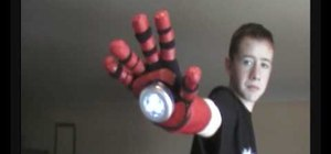 Make the repulsor arm prop from Iron Man