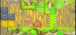 Beat the Secret Island level of Water Land in Kirby's Epic Yarn for the Wii