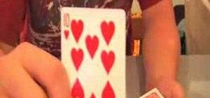 Perform the Credit Card magic trick