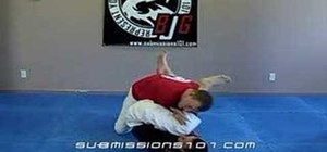 Escape a Jiu Jitsu arm bar from the guard position