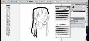Select and use different brushes in Adobe Illustrator CS4 or CS5