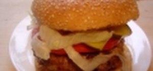 Prepare a BBQ beef burger