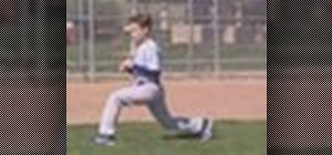Warm up for baseball -- dynamic walking lunge stretch