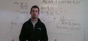 Use a mean and scatter plot for Statistics