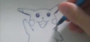 Draw new school Pikachu