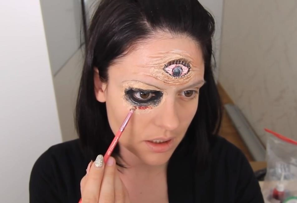 Halloween Fortune Teller Makeup.Ahs Freak Show Diy Blind Fortune Teller Makeup Fx For Halloween