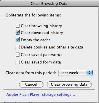 How to Clear Your Flash Cache and Browser Cache
