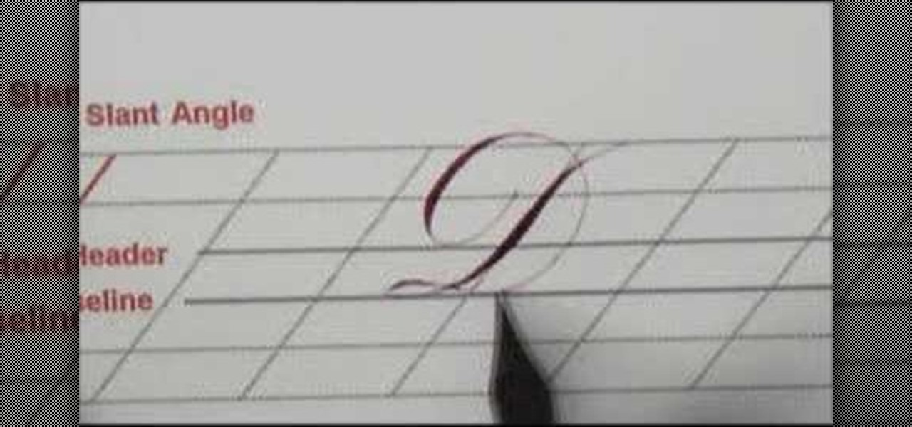 How to script calligraphy copperplate style letter d