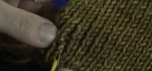 Weave in ends on ribbing