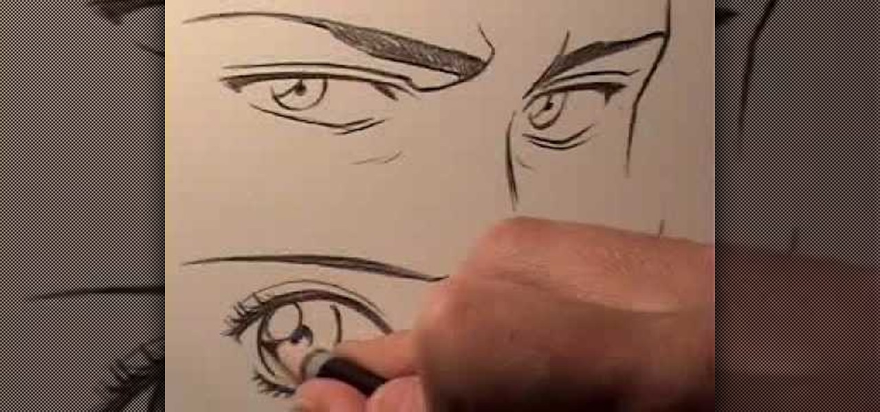 How To Draw Male And Female Manga Eyes Drawing Illustration WonderHowTo