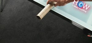 Make a humane mouse trap from a paper towel tube