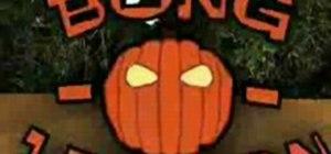Make a Halloween pumpkin bong