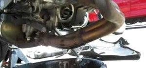 Change the oil on a Kawasaki Ninja 650R motorcycle
