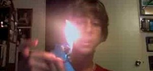 "Perform the ""Flesh Torch"" Zippo lighter trick"