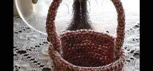 Crochet a left handed basket