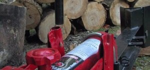 Use a manual log splitter
